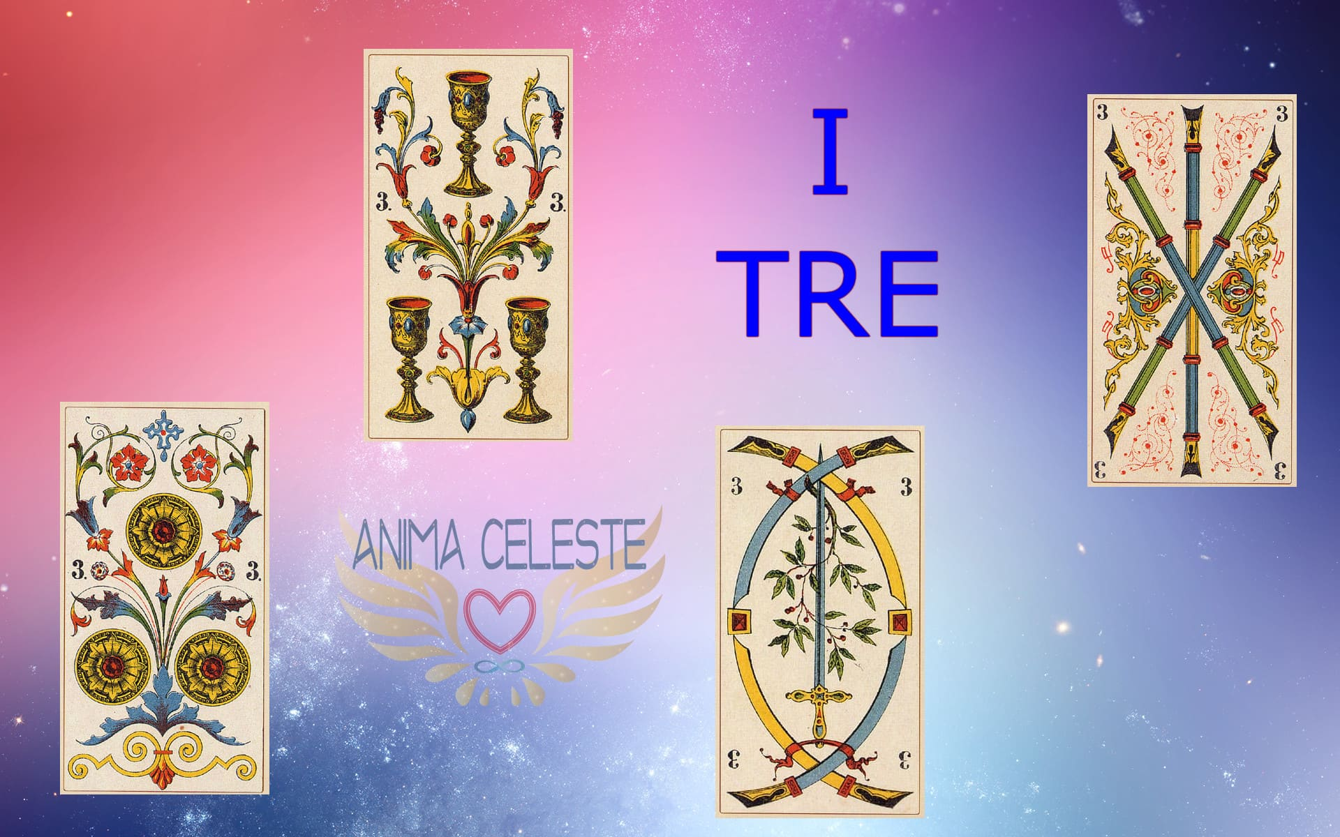 i tre tarocchi arcani minori - www.animaceleste.it
