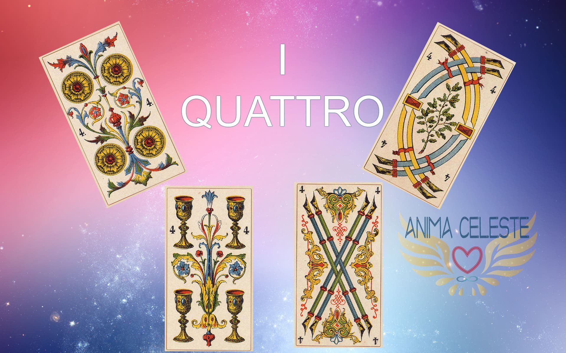 i quattro tarocchi arcani minori - www.animaceleste.it