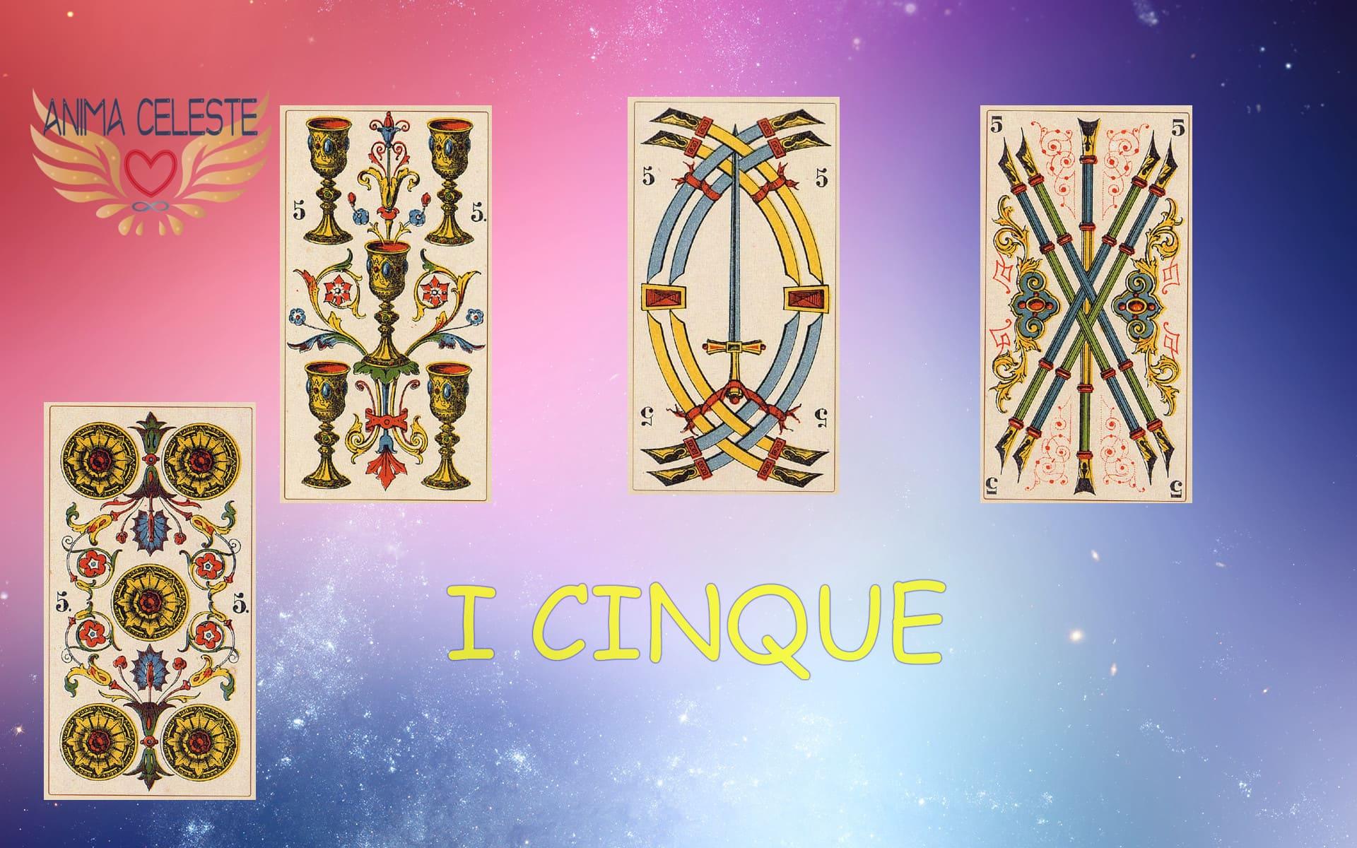 i cinque tarocchi arcani minori - www.animaceleste.it