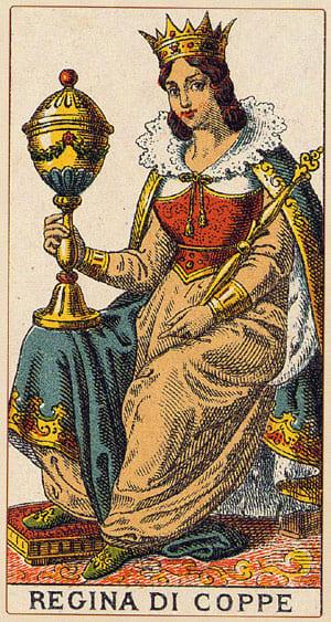 regina coppe - Tarocchi Arcani minori - www.animamceleste.it