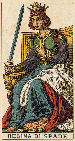 regina spade - Tarocchi Arcani minori - www.animamceleste.it